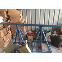 China Line Construction Wire Reel Stands , Ton Adjustable Cable Jack Stands on sale
