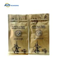 Best Flat Bottom Ziplock Coffee Bags , Aluminum Foil Gusseted Coffee Bags With Valve wholesale