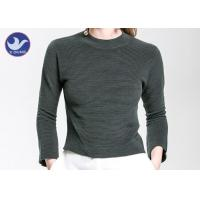 Best Charm Crop Top Womens Knit Pullover Sweater Lady  Three Quarter Sleeves Short Turtle Neck wholesale