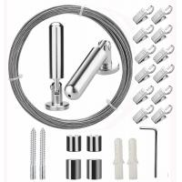 Best 5 Meters Window Curtain Stainless Steel Wire Rope Assemblies With 20 Clips wholesale
