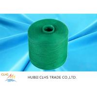 Cheap Green Polyester Dyed Yarn 50 / 2 , Eco - Friendly Polyester Twisted Yarn Good for sale