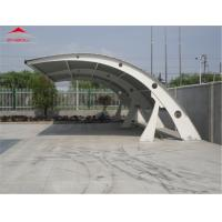 Cheap 1050gsm PVC Roof Fabric Tensile Membrane Structures / Mobile Car Tent Garage for sale