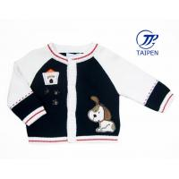 Best OEM Sport Black And White Cotton Knitting Patterns Kids Sweaters, Sports Sweater Cardigan wholesale