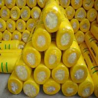 Best Glass wool blanket with Aluminium foil with Yellow PE thermal shrinkage packing wholesale