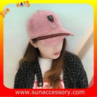 Buy cheap QF17046 Sun Accessory customized corduroy baseball cap, embroidered logo on the from wholesalers