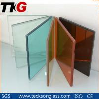 China 5.38-16.76mm Clear, Grey, Bronze, F Green and Other Colored PVB Safety Laminated Glass on sale