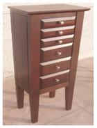 Best Brown Color Wooden Jewelry Box Moisture Proof With Sturdy / Durable Frame wholesale