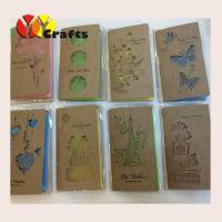 Unique handmade greeting card kraft paper with various patterns