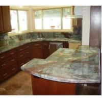 China Natural Polished Rainforest Green Marble Slabs for Kitchen Countertop Bar Tops on sale