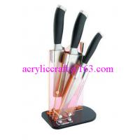 Best Clear acrylic knife display stand / plastic knife holder / acrylic knife rack wholesale