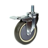 Cheap 75mm PU shopping trolley Caster for sale
