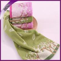 China 100 cotton bright color yarn dyed flower jacquard face towel wholesale on sale