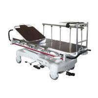 China Hydraulic  Radio Translucent Patient Transport Trolley Height Adjustable on sale