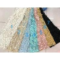 Buy cheap 3D Flower Multi Colored Lace Fabric For Show / Embroidered Sequin Lace Fabric from wholesalers