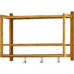 Best Multifunction Bamboo Bathroom Supplies , Bamboo Bathroom Wall Shelf For Home wholesale