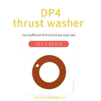 Best Steel Backed DP4 Bronze Thrust Washer Red PTFE wholesale