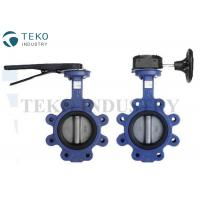 Best Wafer End Lug Type Butterfly Valve Concentric Resilient General Purpose With SS304 Disc wholesale