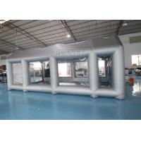 China Silver 7m length Larger Car Painting Inflatable Spray Booth With Filter For Car Workstation on sale