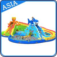 China Outdoor Inflate Amusement Water Park , Inflatable Water Park , Inflatable Ground Water Park on sale
