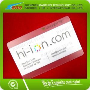 Best Printing Transparent PVC Die Cut Membership Card wholesale