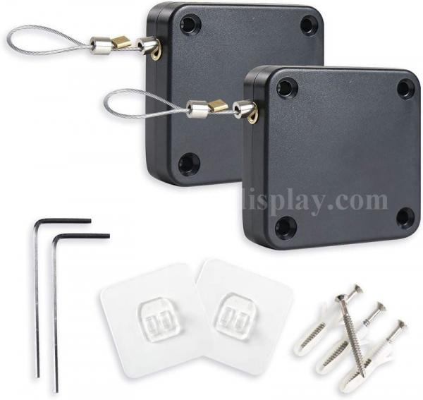 Cheap Security Tether Automatic Retractable Punch Free Sensor Door Closer for sale