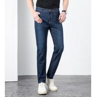 China European and American spring and autumn casual jeans men waist straight leg Korean version of Men's trousers micro-play on sale