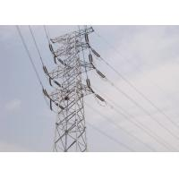 China Carbon Steel 66 Kv Transmission Line Tower , 10m - 100m Power Grid Tower on sale