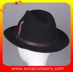 Best 1088 Sun Accessory customized fashion mens fedora hats  wool felt hats wholesale