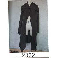 Best Black Wool / Acylic Womens Knitted Long Cardigan With Nice Design For Autumn wholesale