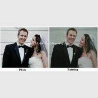 Cheap Canvas Custom Oil Painting Portraits From Photographs Hand Painted Wedding Portraits for sale