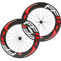 Buy cheap 88mm Full Carbon Bike Wheels , 100% Carbon Fiber Front Rear Wheel 23mm Width from wholesalers
