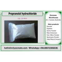 Buy cheap Antihypertensive Propranolol hydrochloride Pharma Raw Powder For Antianginal 318 from wholesalers