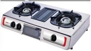 China Gas stove with BBQ grill on sale