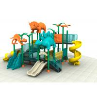 China Dinosaur Style Kids Outdoor Playground Equipment With Brilliant Colors 24CBM on sale