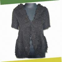 China Women's Crochet Cardigan, Made of 100% Mohair on sale