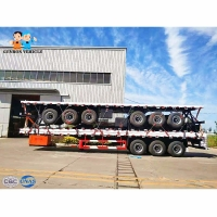 China Anticorrosive E Coating Transporting Q235 40ft Container Tractor Trailer on sale