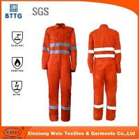 Best YSETEX EN certificated orange fire retardant reflective coverall wholesale