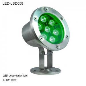 Best 7W exterior IP68 waterproof IP68 LED Underwater lighting in pool wholesale