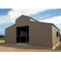 China Agricultural Greenhouse Metal Barn Construction / Prefab Pole Barn Kits Custom Size on sale
