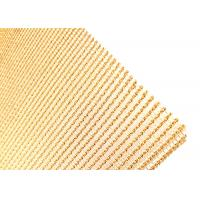 China 2500mm Width Copper Laminated Wire Mesh For Architectural Art Glass Partition on sale
