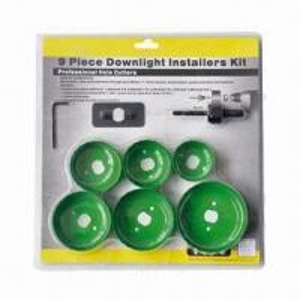 Best 9 pieces high speed downlight installers bi-metal hole saw kit wholesale