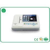 China Touch Screen 6 Channel Ecg Machine Portable Home Ecg Monitor Support Multi - Language on sale