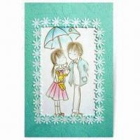 Best Embroidered Greeting Card, Ideal for Holidays and Festivals, Customized Designs are Accepted wholesale