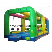China Outdoor 0.55mm PVC Interactive Inflated Fun Games on sale