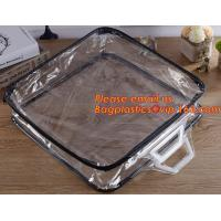 Best Eco-friendly wholesale travel cosmetic bag clear zipper pvc cosmetic bag for women wholesale
