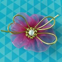 China Cute Purple Baby Flower Girl Hair Accessories , Hair Ribbons For Toddlers on sale