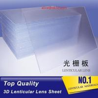 Best OK3D high quality PS 40LPI board 120x240cm, 3.95mm lenticular sheet for 3d and flip lenticular effect by injekt print wholesale