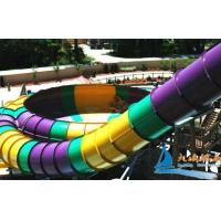 Best Super Bowl 19m Fiberglass Four Person Tube Amusement Park Water Slides for Kid Fun wholesale