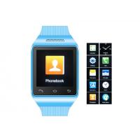 China 1.54 Blue GSM Mobile Watch Phone , Multi-languages Cell Phone Watch on sale
