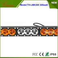 Cheap Super bright 300w dual color single row offroad led bar in thick diecast for sale